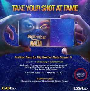 How To Audition For BBNaija Season 5 (2020)