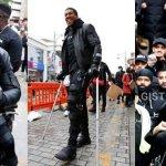 Anthony Joshua attends #BlackLivesMatter protest despite injury (Photos/Video)