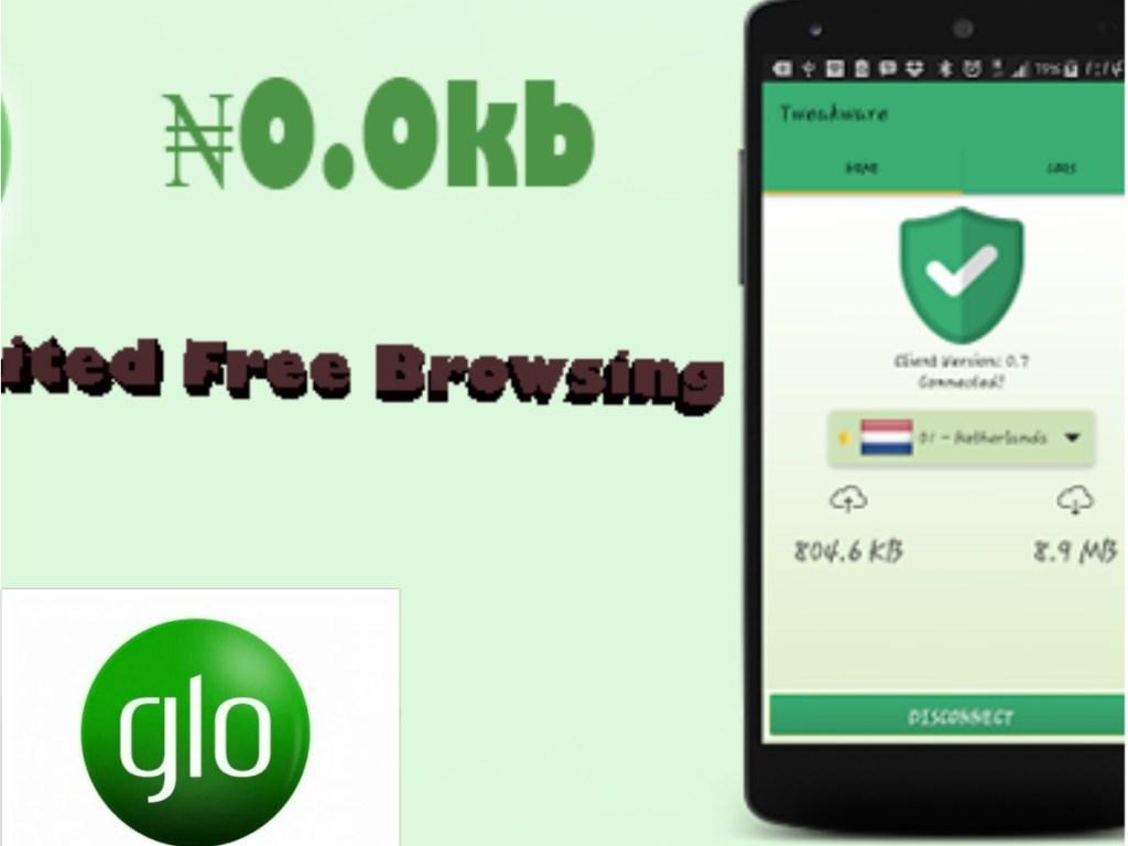 GLO N0.0kb Unlimited Free Browsing using Tweakware VPN