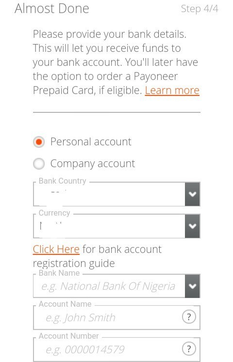Payoneer Business Account