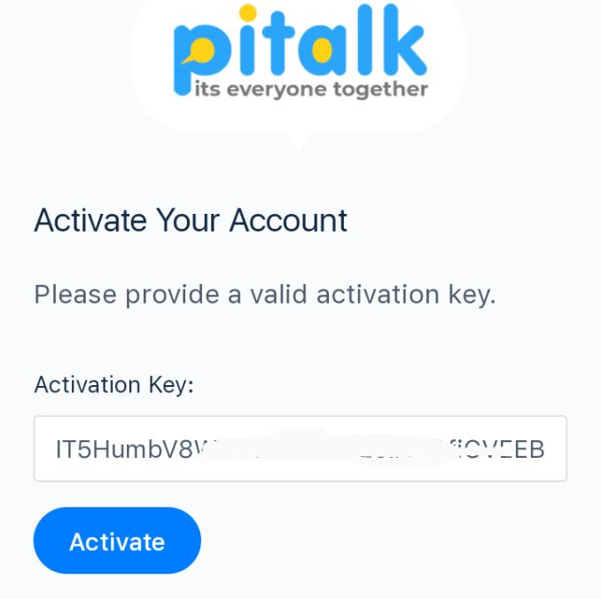 How to Create Pitalk account