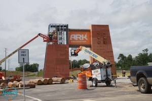 Ark Encounter Sign Under Construction