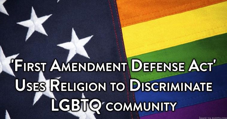 Fist Amendment Defense Act Discrimination