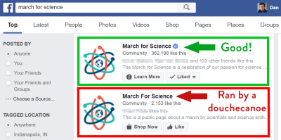 march for science vs fake