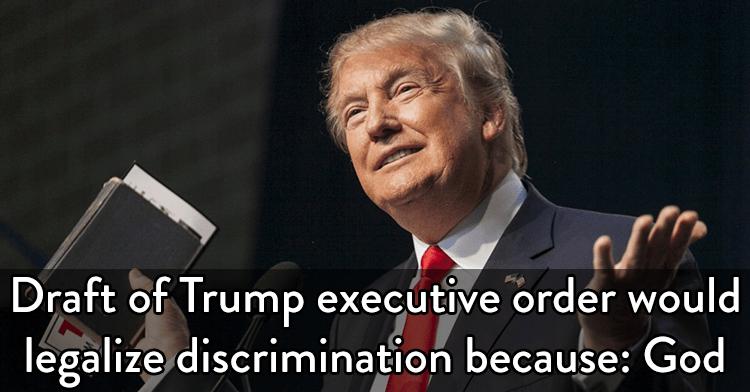 trump executive order legalize discrimination