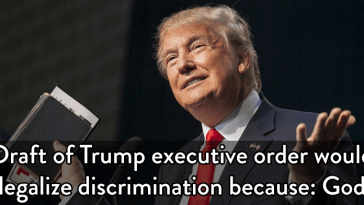 trump executive order legalize discrimination