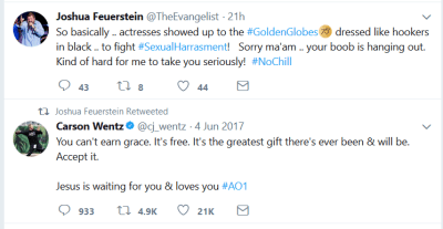 joshua feuerstein hypocrisy tweet