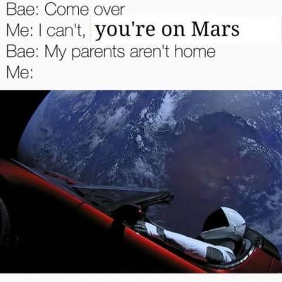 SpaceX Falcon Heavy Starman meme