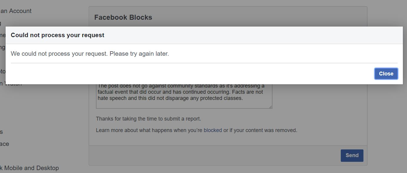 Facebook just banned me for 'hate speech' for criticizing