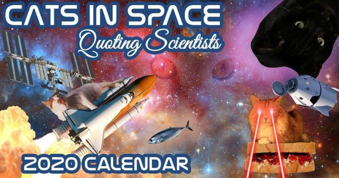 2020 cats in space quoting scientists calendar