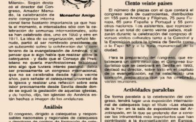 A LOS 25 AÑOS  DEL CONGRESO INTERNACIONAL  DE CATEQUESIS DE SEVILLA