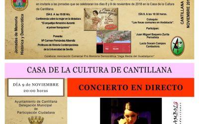 JORNADAS DE MEMORIA HISTÓRICA Y DEMOCRÁTICA EN CANTILLANA