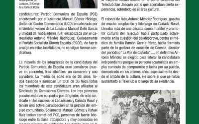 ARTICULO DE JOSÉ ANTONIO FILTER, CRONISTA OFICIAL DE CAÑADA ROSAL Y PRESIDENTE DE ASCIL, EN LA REVISTA DE LA FERIA Y FIESTAS DE SAN JOAQUÍN Y SANTA ANA