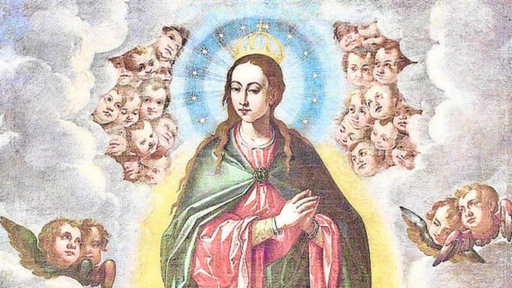 Óleo sobre lienzo de la Inmaculada Concepción, pintada por Pacheco en 1619