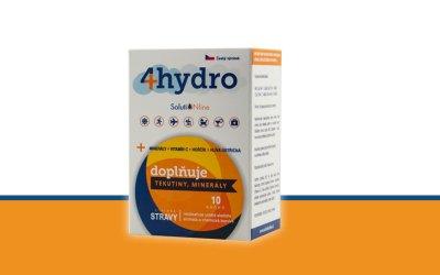 Nový přípravek 4hydro na doplnění vody a elektrolytů v těle v naší nabídce!