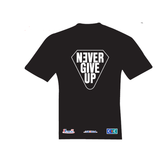 TSHIRT NEVER GIVE UP