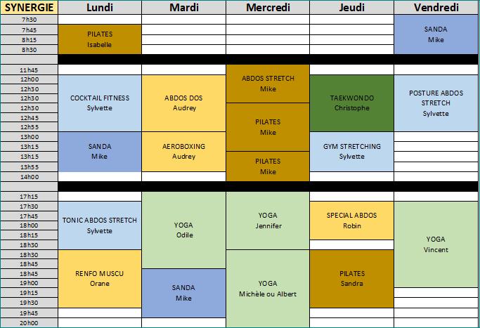 Synergie du 18 au 22 fev 2019