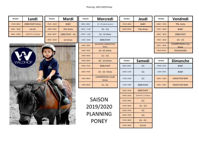 Planning Poney saison 2019 2020 version 20190818