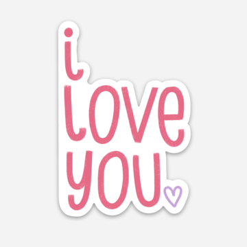I Love You Sticker Mockup