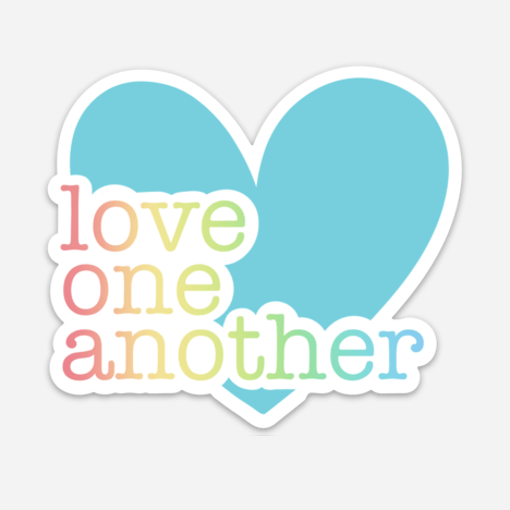 Love One Another Sticker Mockup