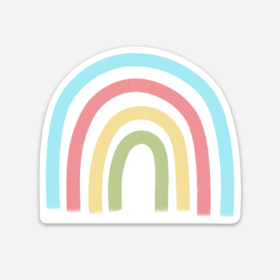 Rainbow Sticker Mockup