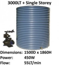 aquaplate 3000lt round single storey