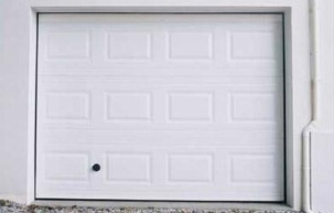 Porte de garage acier nervurée