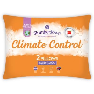 slumberdown climate control pillow pair