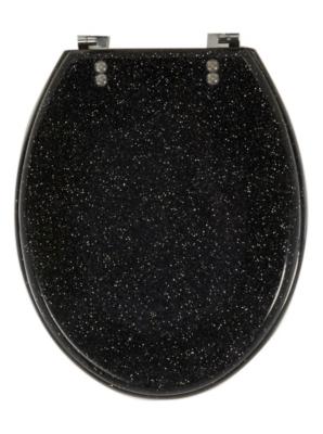 Glitter Toilet Seat - Black