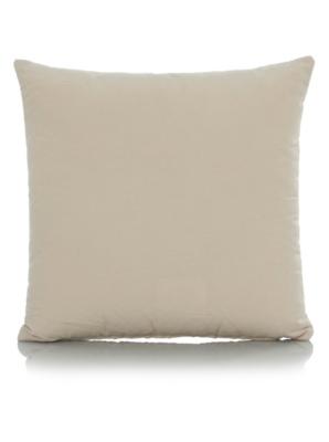 George Home Chenille Stripe Cushion 40x40cm - Brown