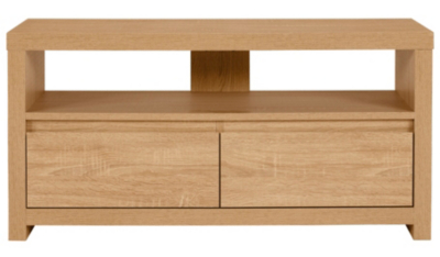 Natural Wood TV Stand Unit Lounge Living Room Furniture