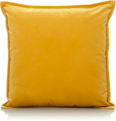 Velvet Cushion - Yellow