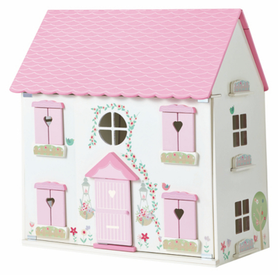 George Home Wooden Dolls House & Large Furniture Set