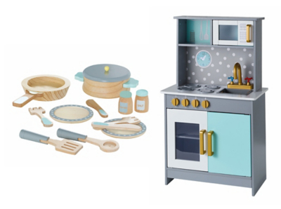 George Home Wooden Deluxe Kitchen And Cooking Set