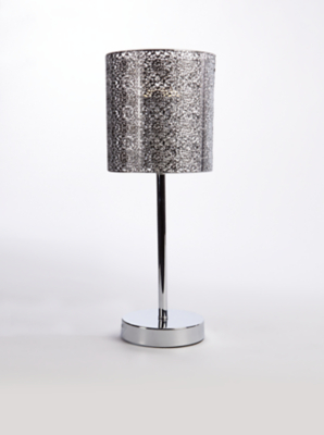 Silver Toned Moroccan Stick Table Lamp Home George At Asda