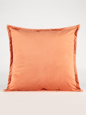 extra large orange velvet cushion