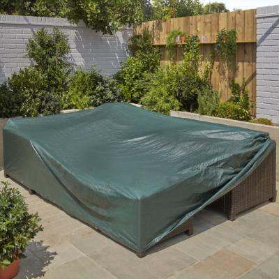 large green rectangular outdoor furniture cover