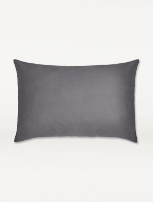 dark grey sateen pillowcase pair
