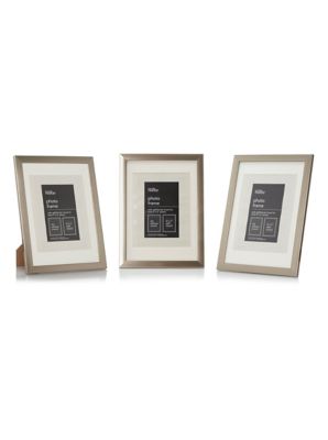 plastic photo frame gold 7 x 5 inch 3 pack