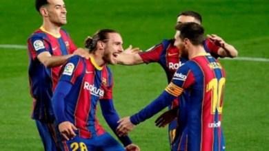 صورة برشلونة يفوز على مضيفه فياريال 2 / 1 في الدوري الإسباني لكرة القدم..