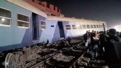 صورة 15 مصابا بعد خروج قطار منيا القمح عن القضبان بمصر..