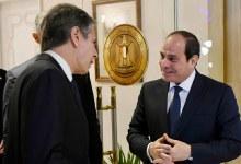 صورة إتفاق مصري أمريكي على ضرورة إحياء عملية السلام في الشرق الأوسط..