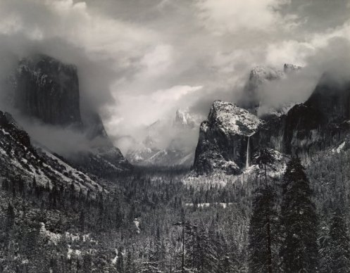 clearing-winter-storm-yosemite-park-1944-by-ansel-adams