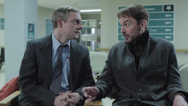 El primer encuentro entre Lester Nygaard (Martin Freeman) y  Lorne Malvo (Billy Bob Thornton)