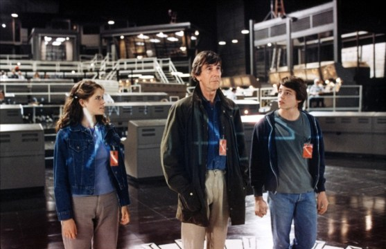 David (Matthew Broderick), Falken (Jhon Wood) y Jennifer (Ally Sheedy)