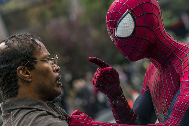 Max Dillon (Jaime Foxx) y Spider-Man (Andrew Garfield)