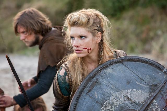 Lagertha en una de las batallas claves de esta 2da temporada.