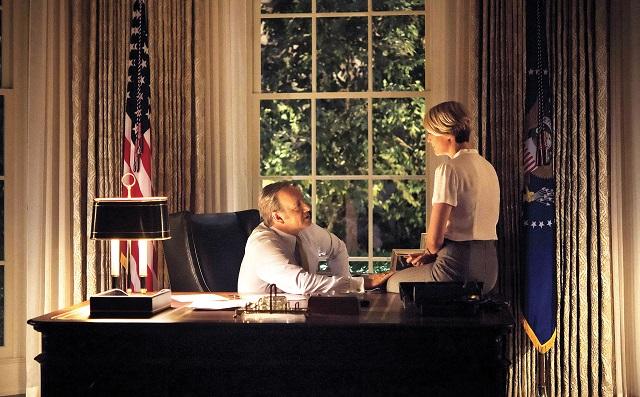 Francis (Kevin Spacey) y Claire (Robin Wright) en la Casa Blanca.