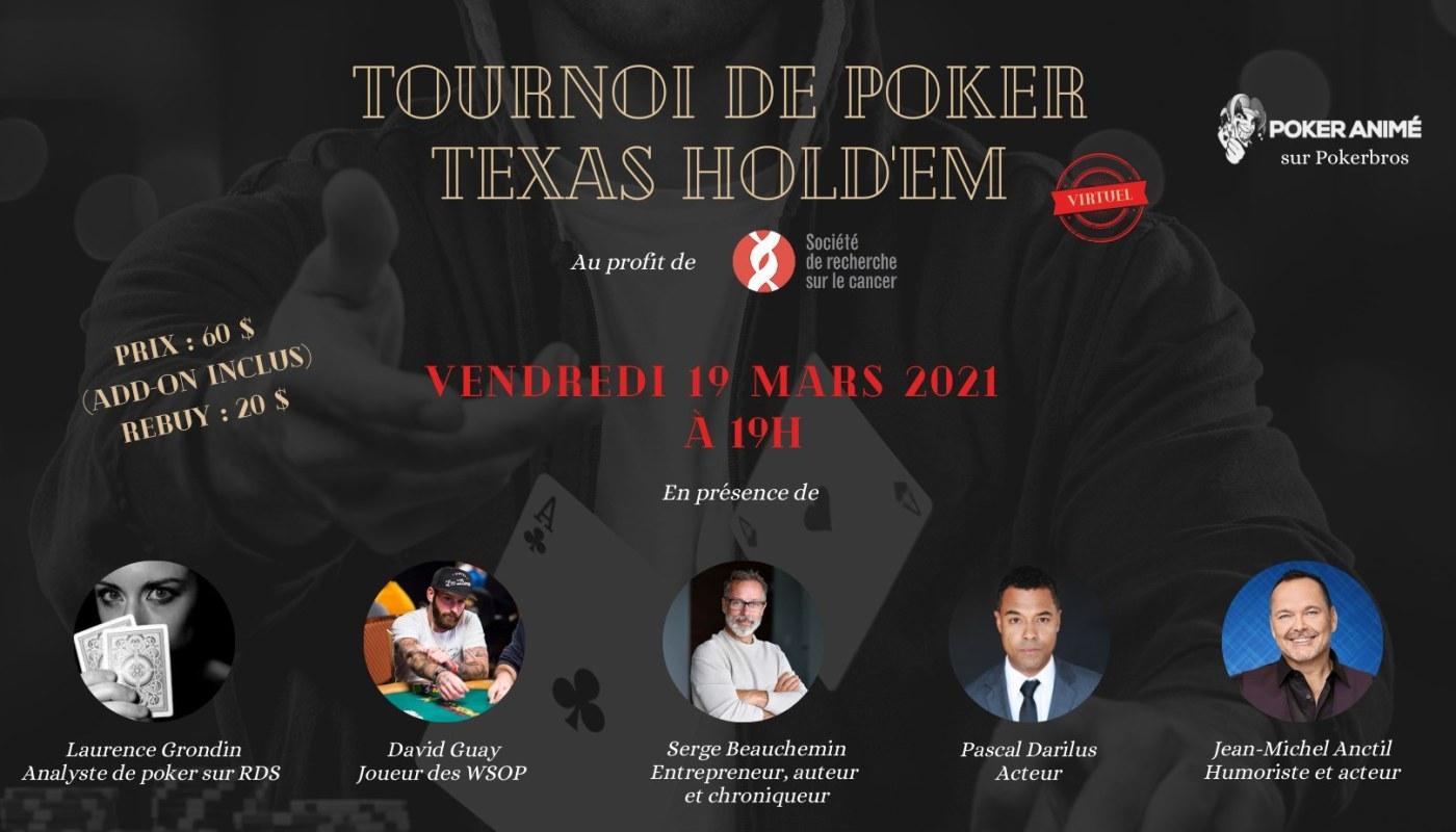 Tournoi de Poker pour la Société de recherche sur le cancer
