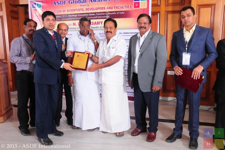 Nirmalkumar Krishnaswami ASDF Global Awards 2015